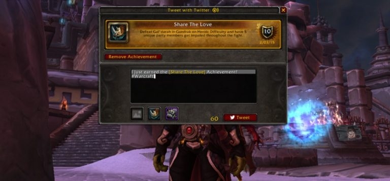 WoW adds Twitter integration, racing minigame
