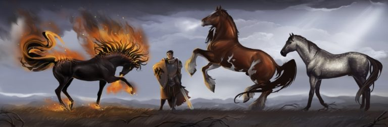 Crowfall hits stretch goals for mounts, caravans, and free pack pig