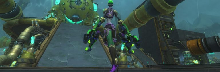 Here's a quick preview of WildStar's new Star-Comm Basin zone