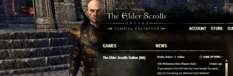 Beta players are welcomed back to a freebie Elder Scrolls Online weekend