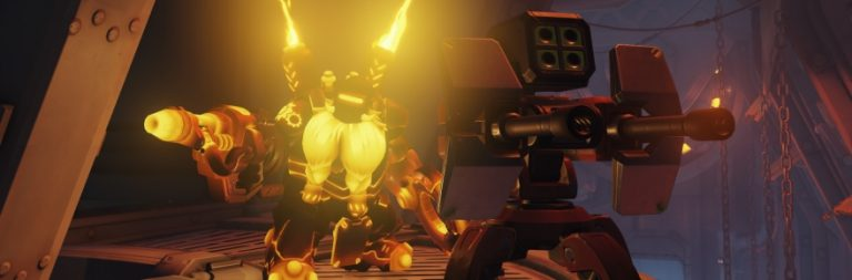 Overwatch shows off the turret-building gameplay of Torbjörn