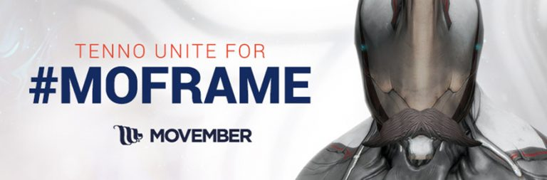 Warframe breaks out virtual mustaches for men's health