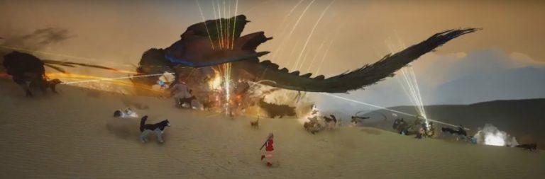 Black Desert makes the world boss Desert Dragon even more boss