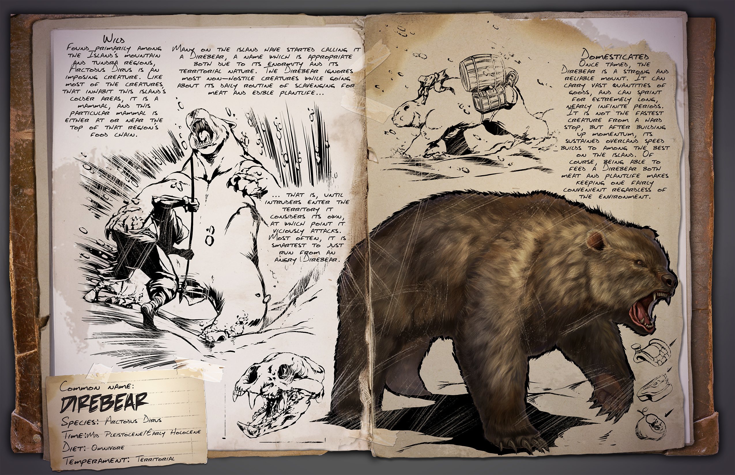 ARK: Survival Evolved introduces ridable direbear and manta