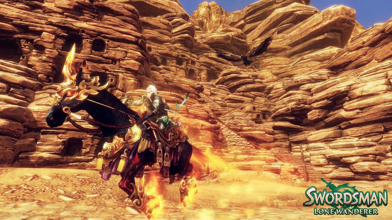 Swordsman's Lone Wanderer Falconer class literally rides eagles