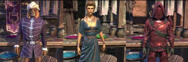 Elder Scrolls Online's dye system adds a color splash for cash