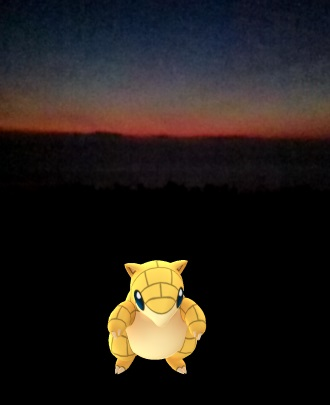 pokemongo_sandshrew_sunset