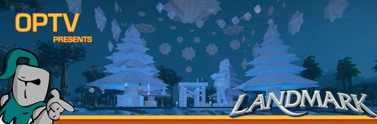 The Stream Team: Giving gifts while looking at Landmark's holiday island