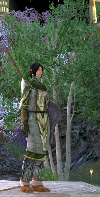 Now I'm looking pretty in an Elven gazebo.