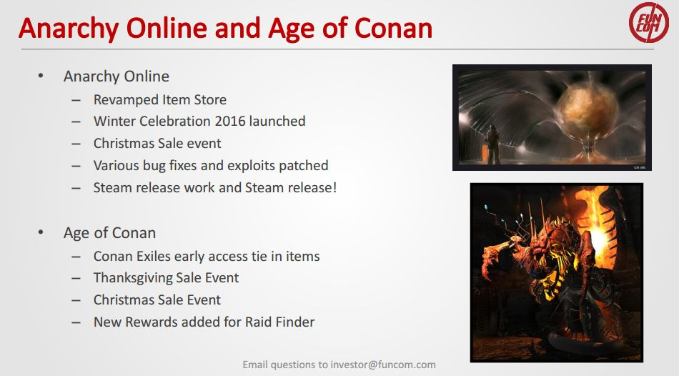 funcom the secret world anarchy online age of conan