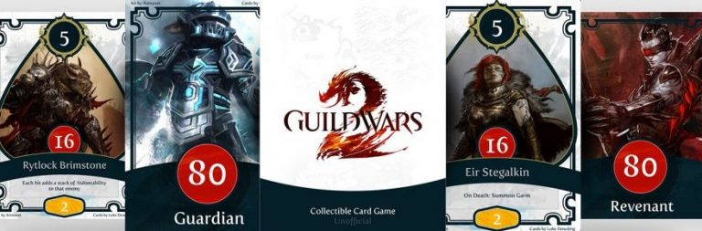 Fan creates Guild Wars 2 themed collectible card game