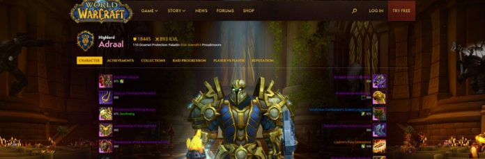 The Old World Of Warcraft Armory Now Profile Page Has A Big Update Today And While Blizzard Says New Profiles Look Just As Good On Your Phone
