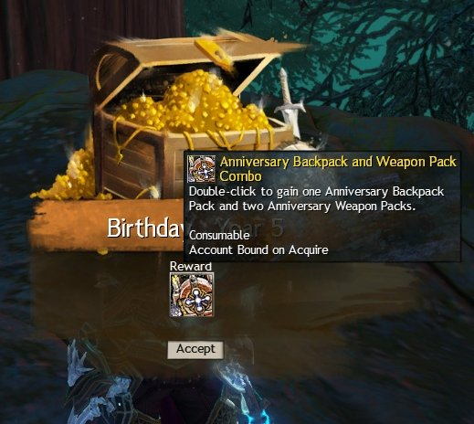 Guild Wars 2 Has Begun Doling Out Anniversary Presents
