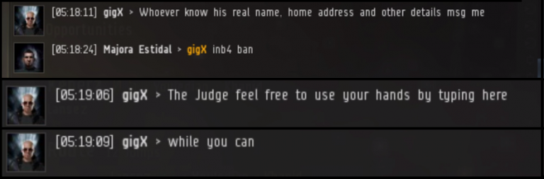 Notorious EVE Online player banned for threatening to cut off someone's hands in real life