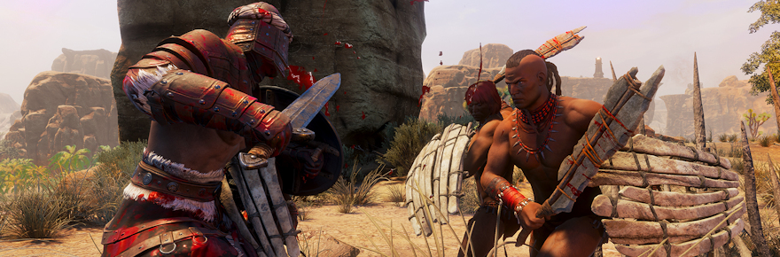 Conan Exiles adopts a litter of bloodthirsty puppies and