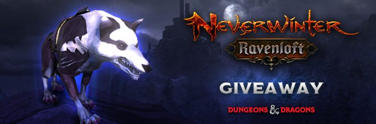 Enter to win a very good boy in Neverwinter: A Darkfish Fey Wolf mount for PC in honor of Mists of Barovia