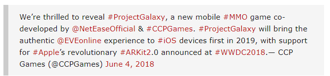 CCP Games announces EVE Online mobile game called Project