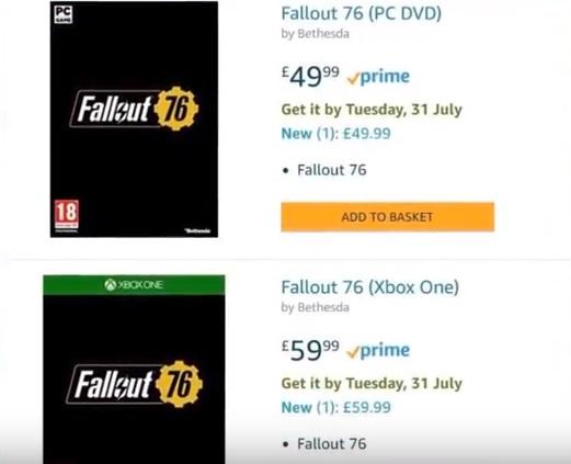 Fallout 76 už 31. července, tvrdil Amazon f76