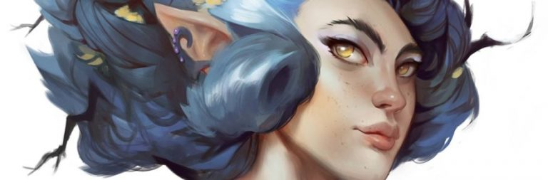 Crowfall shows off a time-lapse wood elf painting