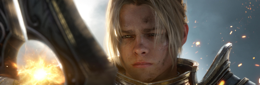Sad Anduin in snow.