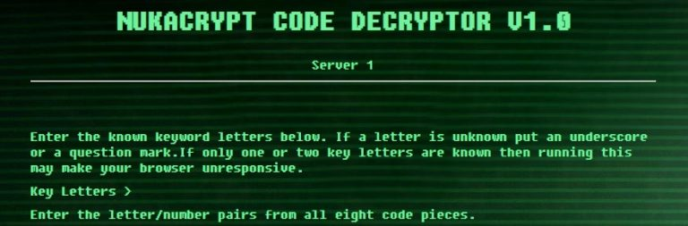 This is the cheeky player program that trivializes Fallout 76's nuke code decryption