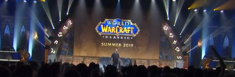BlizzCon 2018: World of Warcraft Classic is releasing next summer