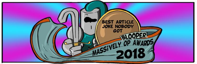 Massively OP's 2018 Blooper Awards: Best article joke (almost) nobody got