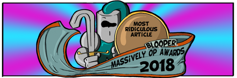 Massively OP's 2018 Blooper Awards: Most ridiculous article