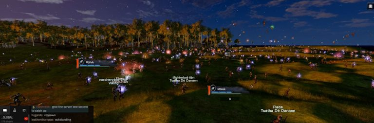 Camelot Unchained's latest battlefield test included nearly 3000 players and bots, surpassing Kickstarter promise