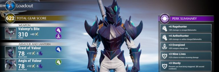 Dauntless previews the new loadout system coming in its next update
