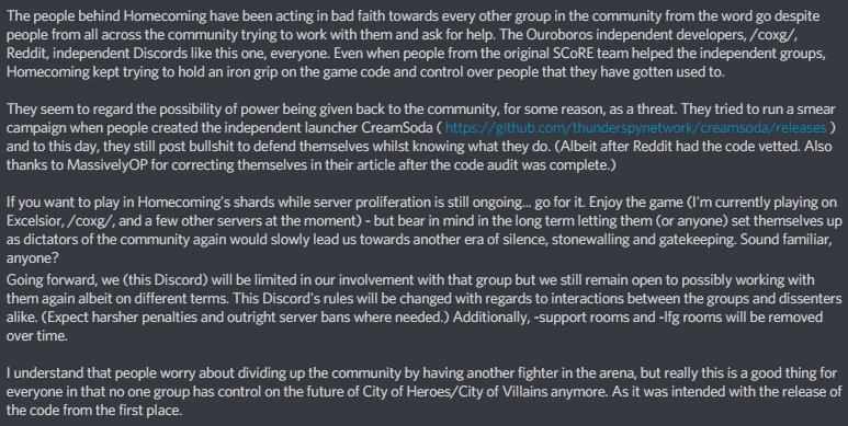 City of Heroes: New servers, Discord drama, and Homecoming