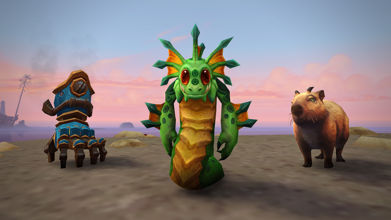 World of Warcraft shows off the new mounts and pets of Rise