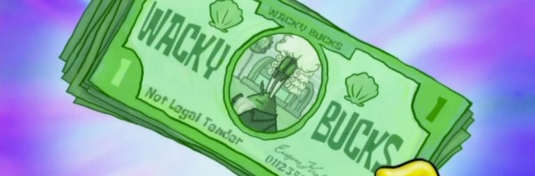 Lawful Neutral: Mr. Krabs' Wacky Bucks and currency in online games