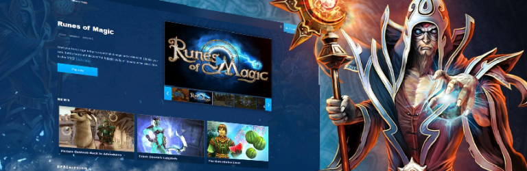 Runes of Magic is now fully integrated into Gameforge's website
