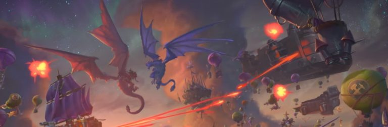BlizzCon 2019: Hearthstone Descent of Dragons adds 8-person multiplayer