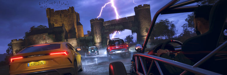 Forza Horizon 4 is adding in the Eliminator today, a 72-car online battle royale mode