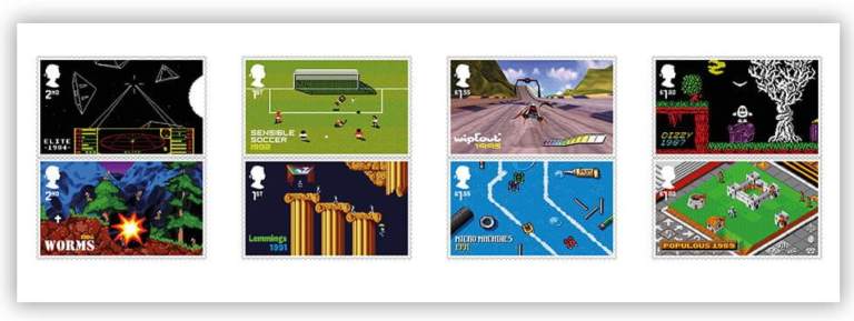 British Royal Mail commemorates classic British games like Elite with collectible stamps