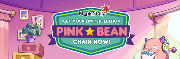Enter to win a sweet Maplestory Pink Bean gaming chair from Nexon and MOP!