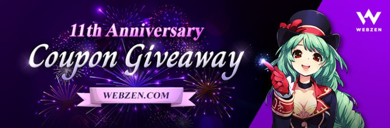Pick up a MU Online, C9, Flyff, or Rappelz gift bundle for Webzen's 11th anniversary giveaway