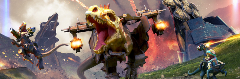 Dino Squad is a mobile PvP shooter with weapon-wielding dinosaurs now in open beta