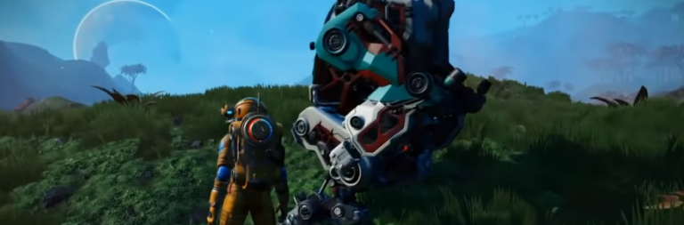 No Man's Sky just patched in the Exo Mech update, confirming leaked video