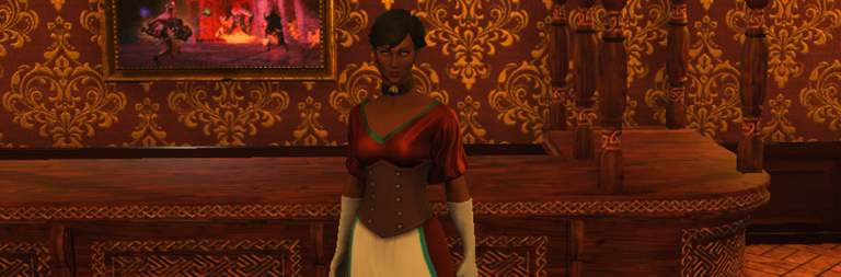 Shroud of the Avatar has made a female shopkeeper outfit and it is very proud of itself