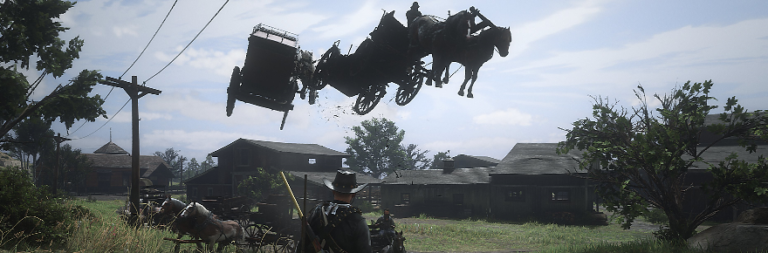 Red Dead Online's 1.21 update introduces dancing corpses, alligator rains, ghost towns, and horse glitches
