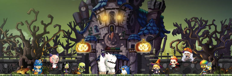 Halloween festivities in GTAO, MapleStory, Aion, and Star Stable, plus a Halloween makeup collab in Elvenar