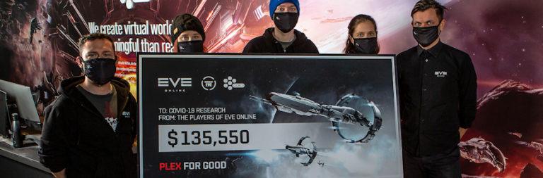 CCP Games' EVE Online community raised $135,500 for COVID-19 response through PLEX for GOOD