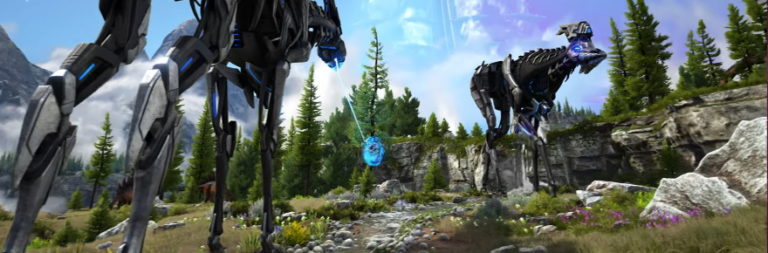 ARK Survival Evolved's Genesis Part 2 stars new monsters, biomes, and David Tennant of Doctor Who fame
