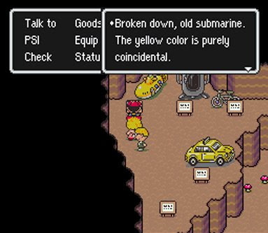 Yellow Submarine Beatles reference in Earthbound