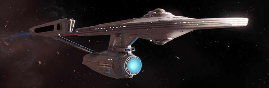 The Constitution Refit-class starship from Star Trek Online